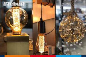 verschiedene Leuchten und LED-Kugel im Siebert Baumarkt